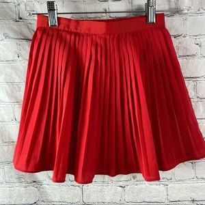 Janie and Jack Red Chiffon Pleated Skirt